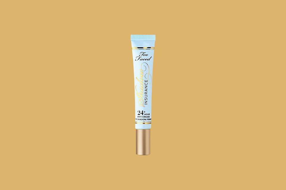 "<p>This creamy eyeshadow primer deserves <a href=""https://www.marthastewart.com/953593/inside-marthas-cosmetics-case"" rel=""nofollow noopener"" target=""_blank"" data-ylk=""slk:a spot in your makeup bag"" class=""link rapid-noclick-resp"">a spot in your makeup bag</a>, plain and simple. One dab blended into each lid and you can expect fade-proof, crease-free wear for up to one full day.</p> <p><strong><em>Shop Now: </em></strong><em>Too Faced Shadow Insurance Eye Shadow Primer, $22, </em><a href=""https://shop-links.co/1716900112261065324"" rel=""nofollow noopener"" target=""_blank"" data-ylk=""slk:sephora.com"" class=""link rapid-noclick-resp""><em>sephora.com</em></a><em>.</em></p>"