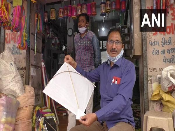 Kite Sellers witness downfall in sales ahead of Uttarayan Festival.