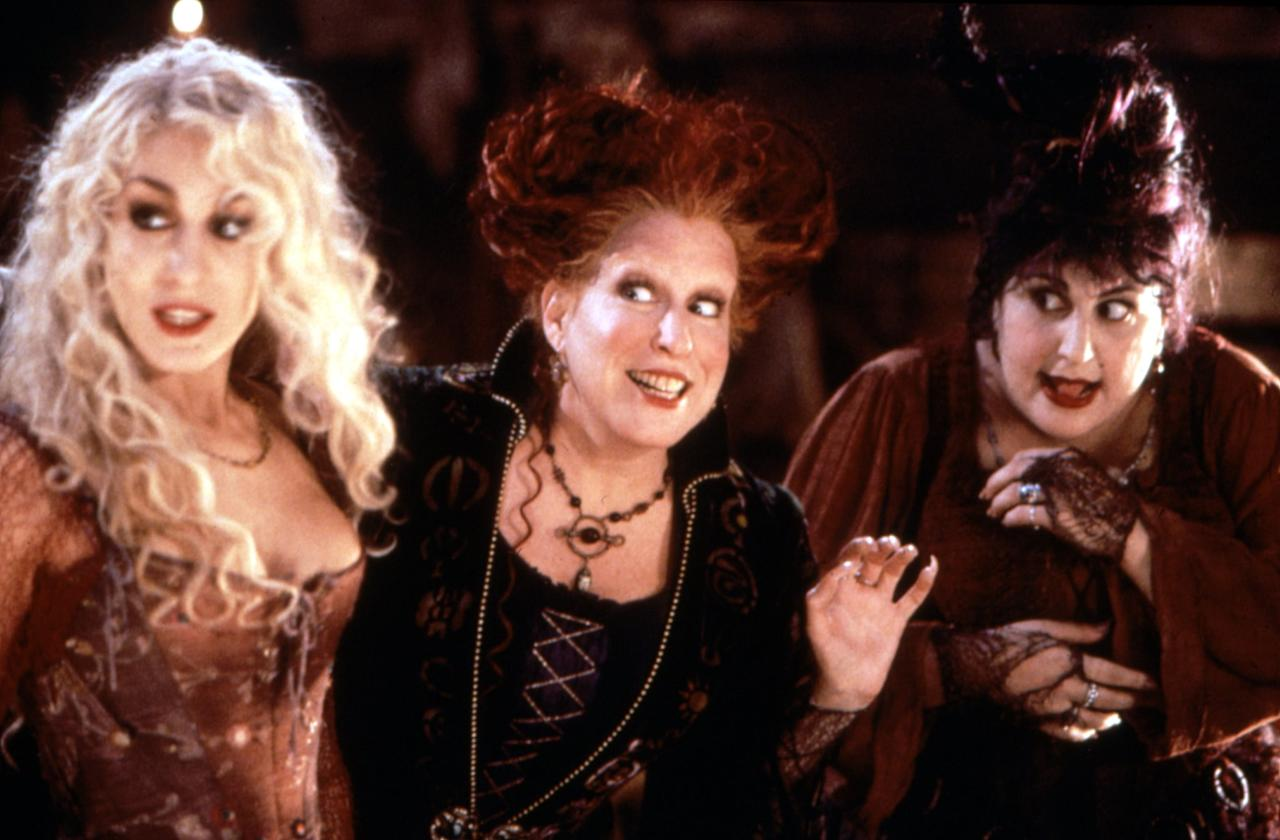 "<p>If you grew up in the '90s, then you know who the Sanderson sisters are, and you probably love them. The three witches at the center of <strong>Hocus Pocus</strong>'s spectacular <a class=""sugar-inline-link ga-track"" title=""Latest photos and news for Halloween"" href=""https://www.popsugar.com/Halloween"" target=""_blank"" data-ga-category=""Related"" data-ga-label=""https://www.popsugar.com/Halloween"" data-ga-action=""&lt;-related-&gt; Links"">Halloween</a> plot are technically the villains, but it's impossible not to be obsessed with Bette Midler, <a class=""sugar-inline-link ga-track"" title=""Latest photos and news for Sarah Jessica Parker"" href=""https://www.popsugar.com/Sarah-Jessica-Parker"" target=""_blank"" data-ga-category=""Related"" data-ga-label=""https://www.popsugar.com/Sarah-Jessica-Parker"" data-ga-action=""&lt;-related-&gt; Links"">Sarah Jessica Parker</a>, and Kathy Najimy's witch trio.</p>"
