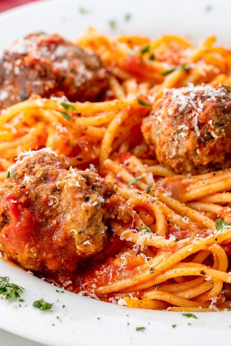 """<p>Making your sauce is always better—it's cheaper and so much more flavourful. This one comes together in about 15 minutes and is the perfect accompaniment to the big garlicky meatballs. </p><p>Get the <a href=""""https://www.delish.com/uk/cooking/recipes/a28868982/best-spaghetti-and-meatballs-recipe/"""" rel=""""nofollow noopener"""" target=""""_blank"""" data-ylk=""""slk:Spaghetti and Meatballs"""" class=""""link rapid-noclick-resp"""">Spaghetti and Meatballs</a> recipe.</p>"""