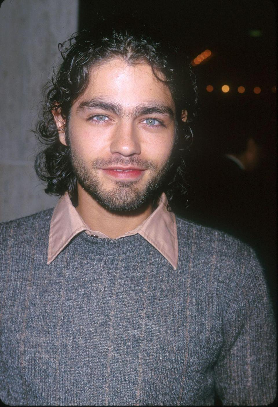 <p>Most people are acquainted with Adrian Grenier's floppy mop hairstyle from his role in <em>Entourage</em>. But you may be surprised that early in his career the actor let his hair grow long to his chin. </p>