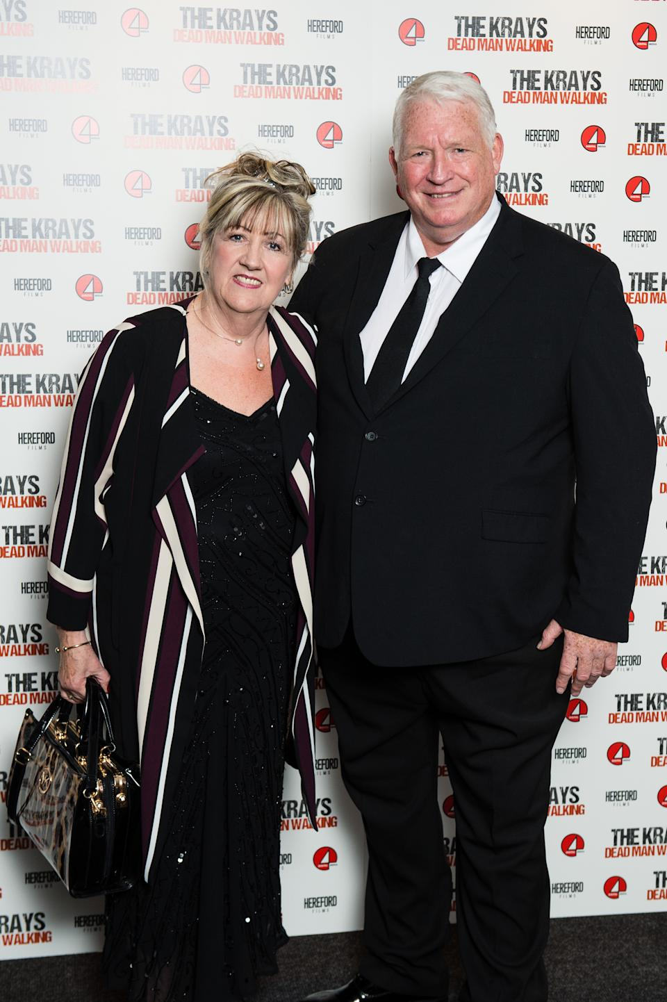 LONDON, ENGLAND - SEPTEMBER 09:  (L-R) Lynne McGarry and Pete McGarry attend 'The Krays: Dead Man Walking' UK premiere at The Genesis Cinema on September 9, 2018 in London, England.  (Photo by Jeff Spicer/Getty Images)