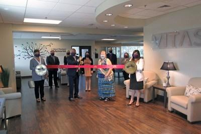 A ribbon-cutting ceremony in June marked the grand opening of the VITAS Inpatient Unit at Villa Rosa. The San Antonio Chamber of Commerce and other local officials attended the private event.