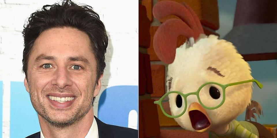 """<p>The <em>Scrubs</em> star leant his voice to the title character of Disney's 2005 spin on the classic children's fable. <a href=""""https://www.youtube.com/watch?v=yjzokIEg8Q0"""" rel=""""nofollow noopener"""" target=""""_blank"""" data-ylk=""""slk:Braff called"""" class=""""link rapid-noclick-resp"""">Braff called</a> doing the film """"cake"""" compared to writing, directing, and acting in <em>Garden State</em> the year prior.</p>"""