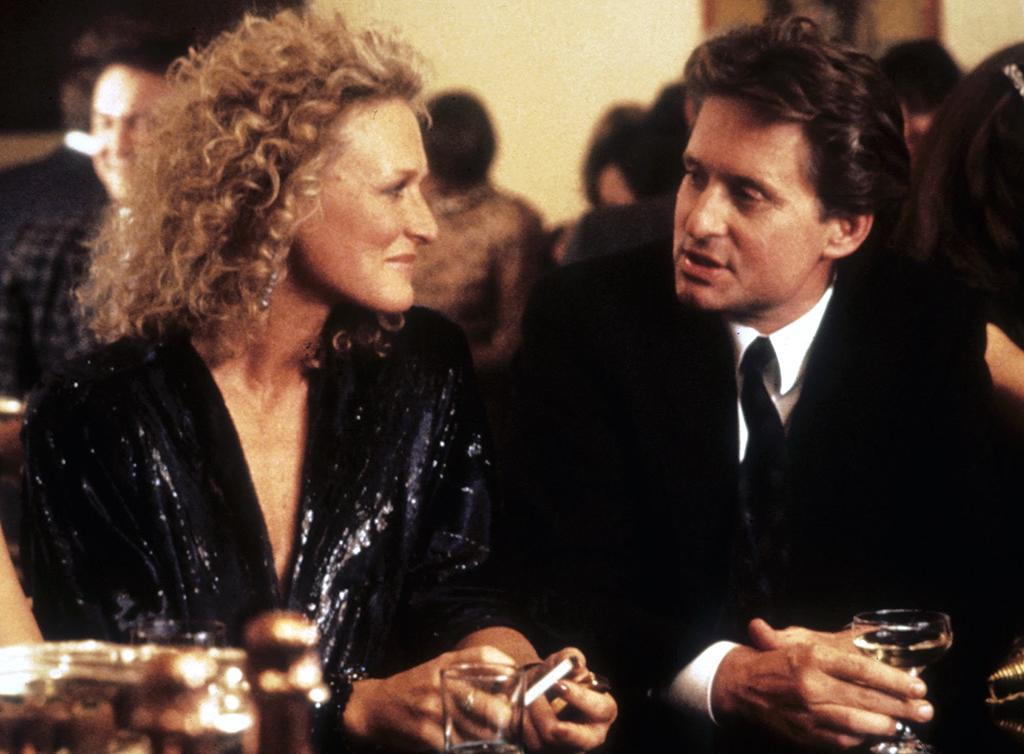 <p>In the 1987 classic, Michael Douglas's hapless yuppie learns that there's a price to pay for cheating on your wife — in this case, courtesy of the mistress (Glenn Close), who isn't too pleased when he dumps her. (Photo: Everett) </p>