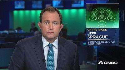 Jeff Sprague, Vertical Research Partners, discusses General Electric as the stock has its worst day since 2011.