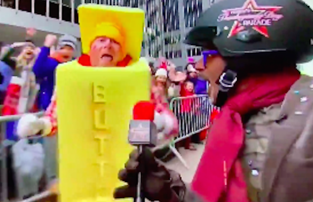 Al Roker Rumbles With a Man-Sized Stick of Butter at Macy's Thanksgiving Day Parade (Video)