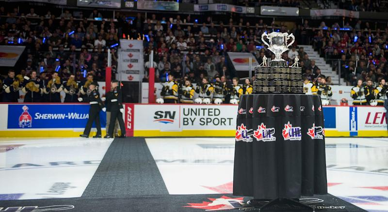 The CHL has cancelled the remainder of its regular season and playoffs, including the Memorial Cup. (Getty Images)