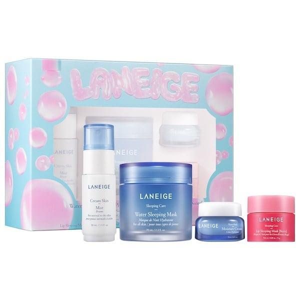 <p>Faces will be refreshed with the masks, mist, and moisture cream found in this <span>Laneige Water Wonderland</span> ($39) kit.</p>