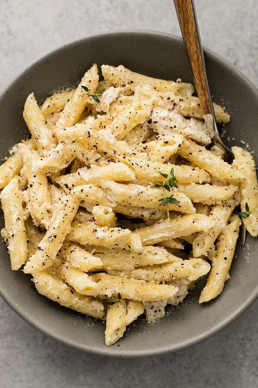 "<p>Penne is the type of pasta every household has, and it's our go-to for easy, speedy <a href=""https://www.delish.com/uk/cooking/recipes/g33642767/easy-pasta-recipes/"" rel=""nofollow noopener"" target=""_blank"" data-ylk=""slk:pasta recipes"" class=""link rapid-noclick-resp"">pasta recipes</a>. Especially the kind that involve butter, Parmesan (always Parmesan) and garlic. </p><p>Get the <a href=""https://www.delish.com/uk/cooking/recipes/a28996537/creamy-garlic-chicken-penne-recipe/"" rel=""nofollow noopener"" target=""_blank"" data-ylk=""slk:Creamy Garlic Chicken Penne"" class=""link rapid-noclick-resp"">Creamy Garlic Chicken Penne</a> recipe.</p>"