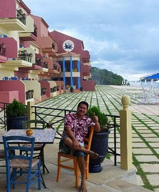 Actor Roden Araneta enjoying Balesin in Quezon Province