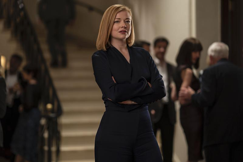"Sarah Snook as Shiv ""Fucking"" Roy on HBOs ""Succession."" (Photo: Graeme Hunter/HBO)"
