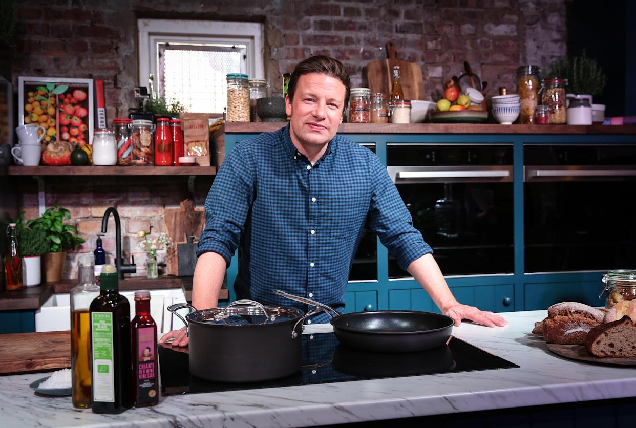 Jamie Oliver returns with new sharing recipes. (Channel 4)