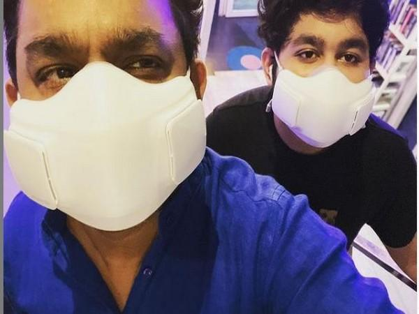AR Rahman with his son AR Ameen (Image Source: Instagram)