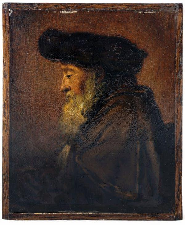 The University of Pretoria painting attributed to Rembrandt.