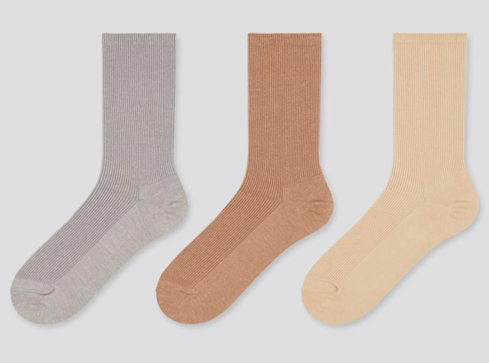 <p>These <span>Uniqlo Glitter Socks</span> ($13 each) are too cute.</p>