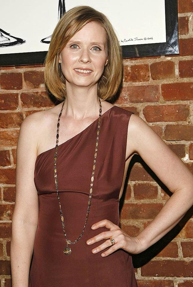 """""""Sex and the City"""" star Cynthia Nixon privately fought breast cancer in 2006. Thanks to a lumpectomy and six and a half weeks of radiation, the actress is cancer-free and serves as an ambassador for Susan G. Komen for the Cure, an organization that supports breast cancer research. Brian Ach/<a href=""""http://www.wireimage.com"""" target=""""new"""">WireImage.com</a> - April 27, 2009"""