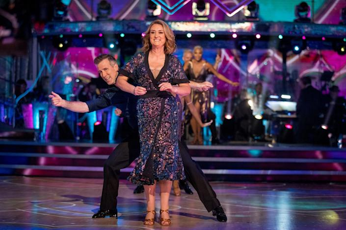 Jacqui Smith and Anton Du Beke perform on the show