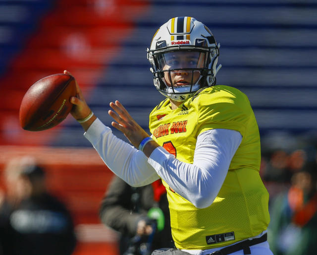 Drew Lock of Missouri stood out in the group of Senior Bowl quarterbacks this week. (AP)
