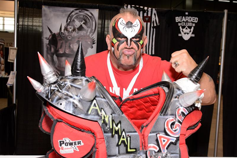 Joe Laurinaitis aka Road Warrior Animal attends the C2E2 Chicago Comic and Entertainment Expo at McCormick Place on April 24, 2015 in Chicago, Illinois. (Photo by Daniel Boczarski/Getty Images)
