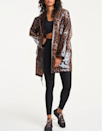 "They don't want you to know this, but fall also brings showers, so make sure you have a raincoat on hand. This leopard-print number definitely isn't your average slicker. $268, Bandier. <a href=""https://www.bandier.com/collections/light-jackets/products/clear-leopard-raincoat-assorted"" rel=""nofollow noopener"" target=""_blank"" data-ylk=""slk:Get it now!"" class=""link rapid-noclick-resp"">Get it now!</a>"