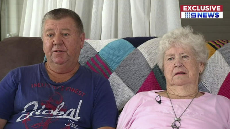 "In this image made from a video, a woman and a man who Australia's Nine Network television says are a grandmother and an uncle of Brenton Harrison Tarrant, the Australian man accused of carrying out the mass shootings at two New Zealand mosques, are interviewed in Grafton, New South Wales, Australia Sunday, March 17, 2019. The woman, identified as Marie Fitzgerald, says, ""It's just so much for everything to take in that somebody in our family would do anything like this."" The uncle, identified as Terry Fitzgerald, says, ""We say sorry, for the families over there, for the dead and the injured, yeah we just, can't think nothing else, just want to go home and hide."" (CHANNEL 9 via AP)"