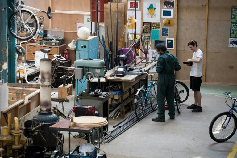 In Seine-Saint-Denis, an old tyre and tool factory has been transformed into a pop-up arts space