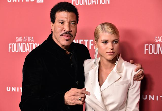 Lionel Richie has explained why he wished 'failure' on his daughter Sofia (R) at the start of her showbiz career (Photo by Frazer Harrison/Getty Images)
