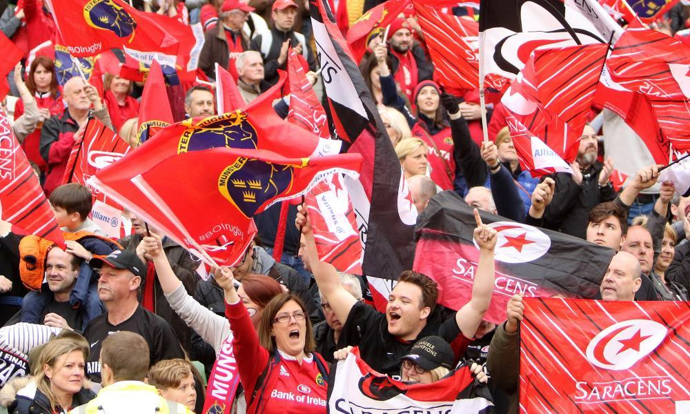 Munster and Saracens fans