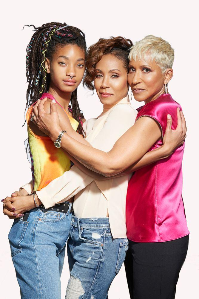 Willow Smith, Jada Pinkett Smith and Adrienne Banfield-Jones.