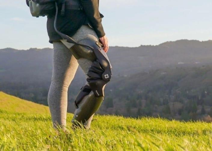 """""""We want to give millions of people just like him a way to remain mobile between the onset of chronic pain and the time until they need – if they need – a total knee replacement,"""" Roam Robotics CEO Tim Swift says of its Ascend knee brace."""
