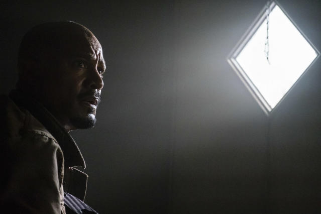 <p>Seth Gilliam as Father Gabriel Stokes in AMC's <i>The Walking Dead</i>.<br>(Photo: Gene Page/AMC) </p>