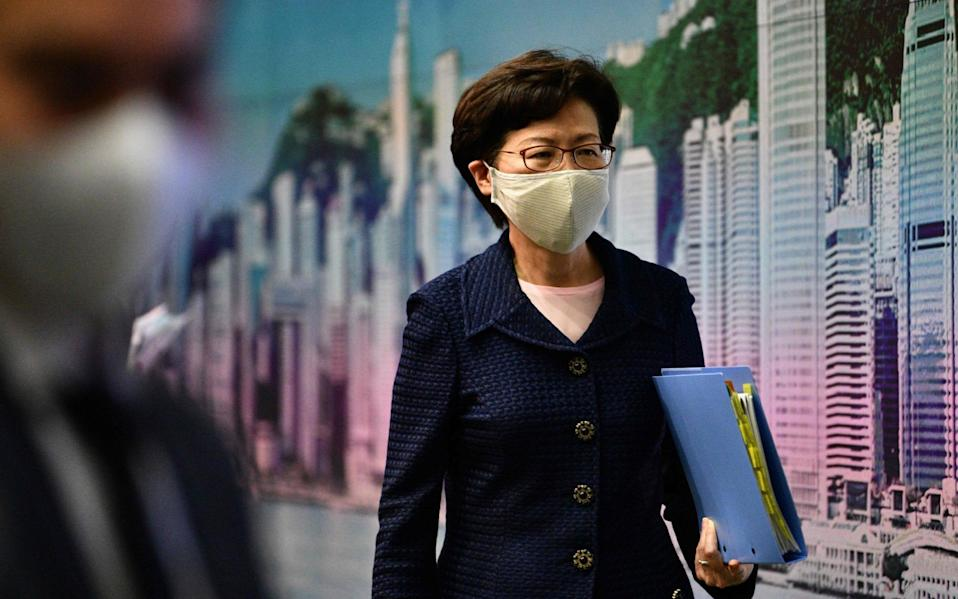 Hong Kong's Carrie Lam - ANTHONY WALLACE/AFP via Getty Images