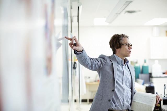 <p>No. 5 highest-paid job: University professor and lecturer<br>Average full-time hourly wage: $58.10<br>(Hero Images / Getty Images) </p>