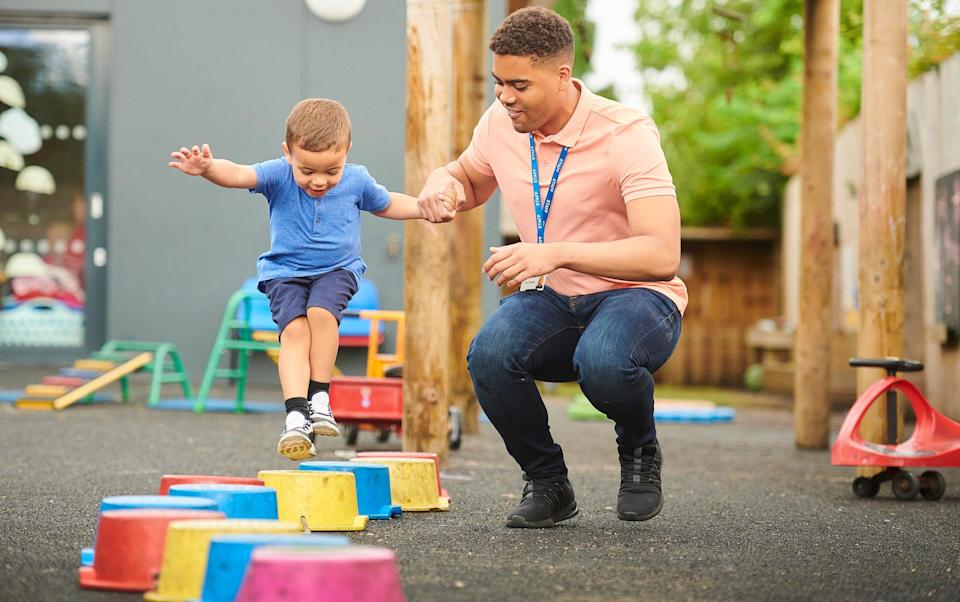 male child-minders - Getty Images