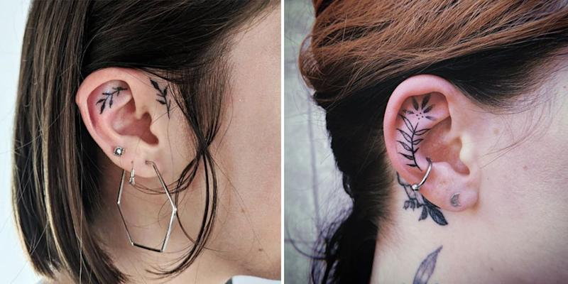 This Tiny Ear Tattoo Is Going Viral On Instagram And