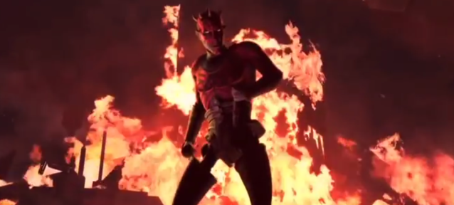 Darth Maul returned from his <em>Phantom Menace</em> death in <em>Star Wars: The Clone Wars</em>. (Photo: YouTube)
