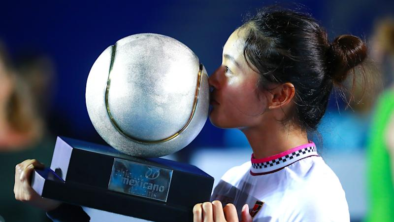 Wang claims maiden WTA title