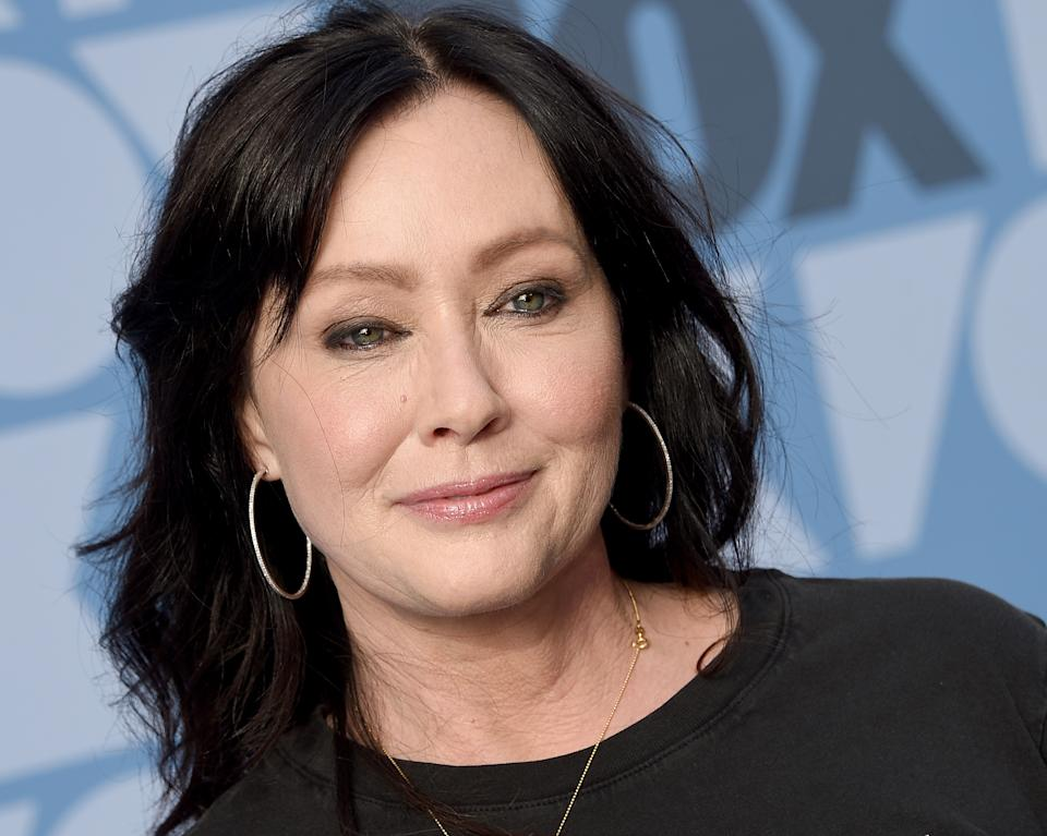 LOS ANGELES, CA - AUGUST 07:  Shannen Doherty arrives at the FOX Summer TCA 2019 All-Star Party at Fox Studios on August 7, 2019 in Los Angeles, California.  (Photo by Gregg DeGuire/FilmMagic)