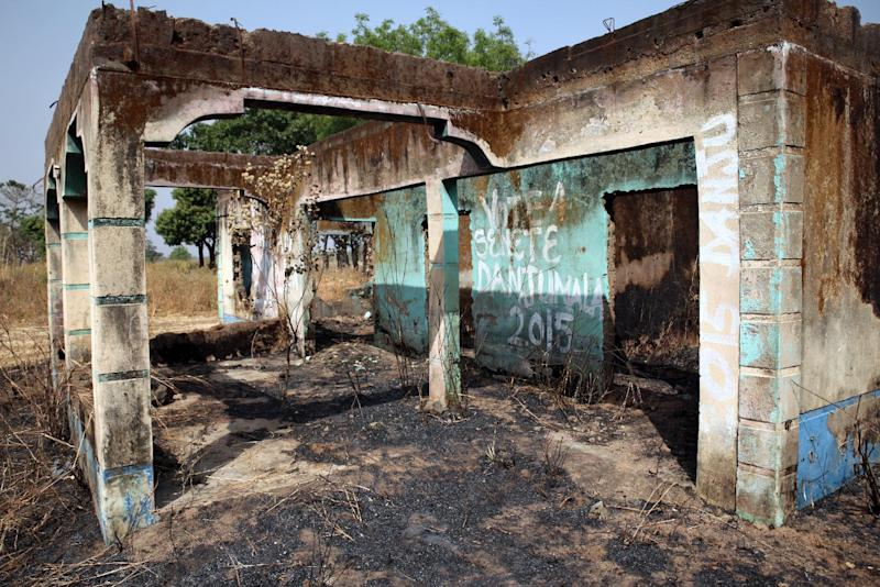 A picture shows a building destroyed in the 2011 election violence in Madakiya, in Nigeria's northwestern Kaduna state, on January 20, 2015 (AFP Photo/Chris Stein)
