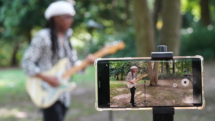 Chic's Nile Rodgers recorded his set on a phone in Central Park