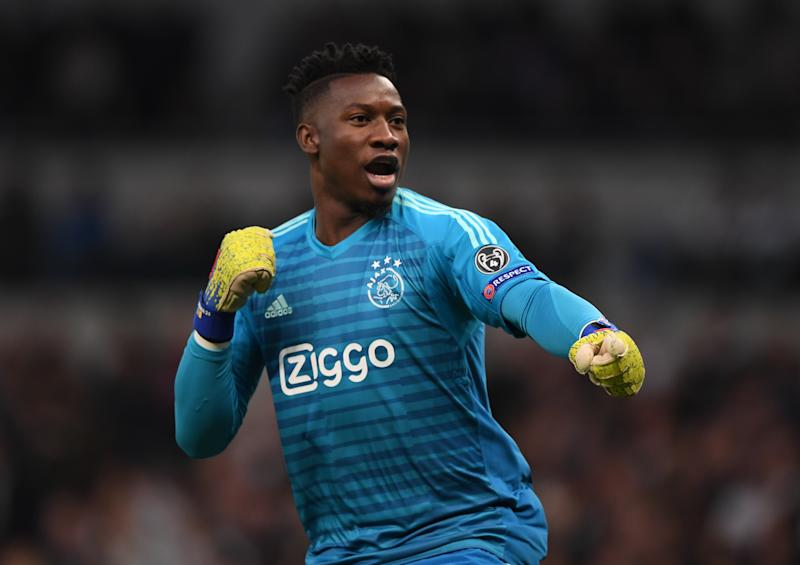 Andre Onana has been linked with a move to Manchester United. (Credit:Getty Images)