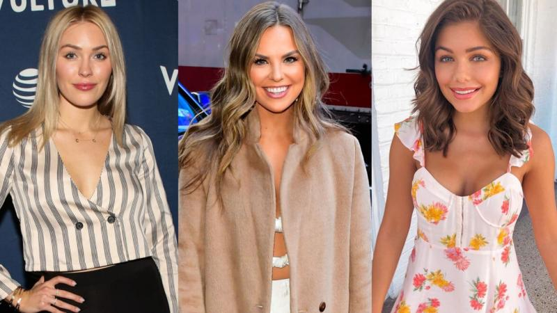 Cassie Randolph, Hannah Brown and Hannah Ann Sluss have all become fans of celeb-approved brand, Alo Yoga (Images via Getty Images/GettyImages/Instagram).