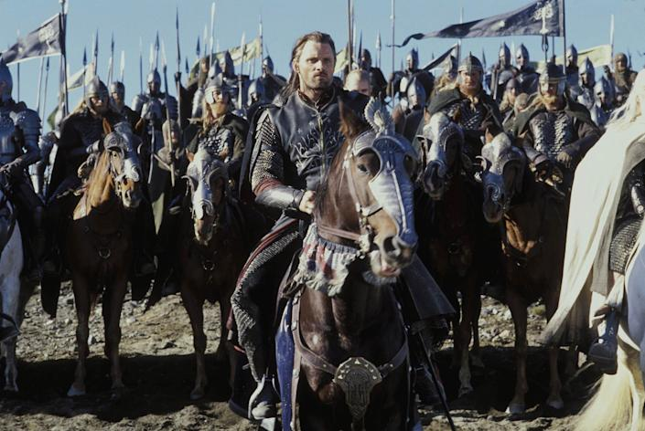 """Viggo Mortensen as Aragorn in 'The Lord of the Rings: The Return of the King'<span class=""""copyright"""">New Line Cinema</span>"""