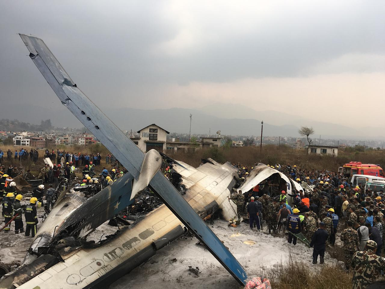 <p>The plane caught fire while landing </p>