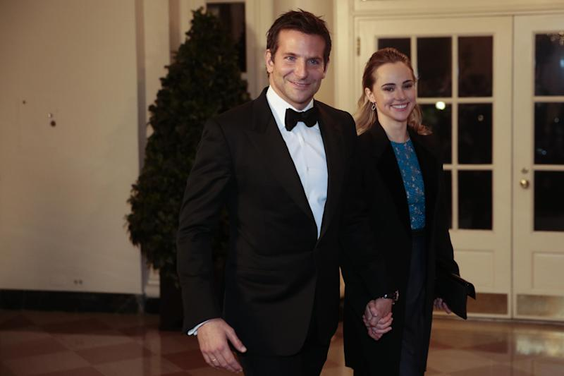 Bradley Cooper with Suki Waterhouse (Getty Images)