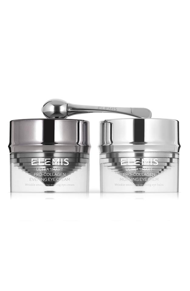"<p><strong>ELEMIS</strong></p><p>nordstrom.com</p><p><strong>$230.00</strong></p><p><a href=""https://go.redirectingat.com?id=74968X1596630&url=https%3A%2F%2Fshop.nordstrom.com%2Fs%2Felemis-ultra-smart-pro-collagen-eye-treatment-duo%2F5252899&sref=http%3A%2F%2Fwww.townandcountrymag.com%2Fstyle%2Fbeauty-products%2Fg9154414%2Fbest-eye-cream-for-wrinkles%2F"" target=""_blank"">Shop Now</a></p><p>An AM to PM treatment plan, if you will. The duo is formulated to target deep-set lines and loss of elasticity to smooth and lift the eye.</p>"