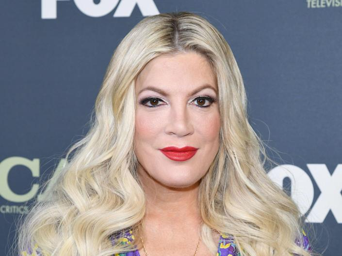 Tori Spelling starred with Dustin Diamond in Saved by the Bell (Getty Images)