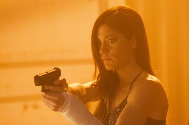 "Jennifer Carpenter as Debra Morgan in the ""Dexter"" Season 8 episode, ""Scar Tissue."""