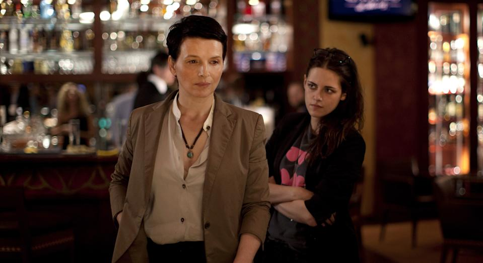 "Juliette Binoche (left) is an A-list actress wrestling with a new project and Kristen Stewart is her assistant in ""Clouds of Sils Maria."""